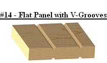 Flat Panel with V-grooves